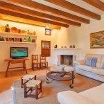 Ferienhaus Mallorca MA3520 Wohnraum mit TV
