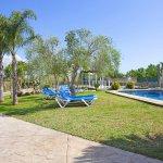 Ferienhaus Mallorca MA4170 Garten mit Pool ind Palmen