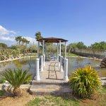 Ferienhaus Mallorca MA4170 Gartenteich mit Steg und Sitzecke