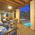 Ferienhaus Mallorca MA4808 Blick auf den beleuchteten Pool