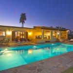 Ferienhaus Mallorca MA4808 Haus und Pool beleuchtet