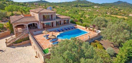 Mallorca Südostküste – Deluxe Finca Alqueria Blanca 4680 mit Pool und herrlichem Panoramablick auf großem Grundstück, Strand ca. 6km. An- und Abreisetag Samstag.