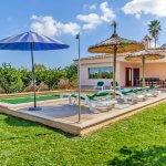 Ferienhaus Mallorca MA3481 Rasenfläche um den Pool