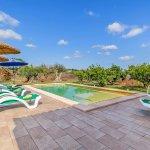 Ferienhaus Mallorca MA3481 Sonnenliegen am Pool