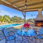 Ferienhaus Mallorca MA2171 überdachte Terrasse am Pool