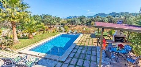 Mallorca Nordküste – Ferienhaus Pollensa 2171 mit Pool für 4 Personen, Strand = 5km, An- und Abreise flexibel – Mindestmietzeit 1 Woche.