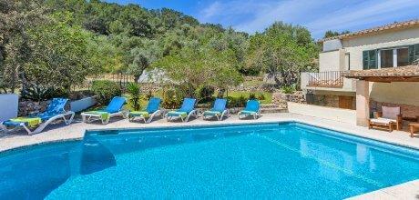 Mallorca Nordküste – Ferienhaus Pollensa 4591 mit Tennisplatz und Pool für 8 Personen, Strand = 8 km. An- und Abreise flexibel auf Anfrage – Mindestmietzeit 1 Woche.