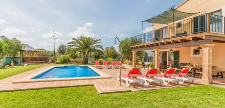Mallorca Nordküste – Ferienhaus Alcudia 4593 mit privatem Pool für 8 Personen, Strand = 6 km. An- und Abreise flexibel auf Anfrage – Mindestmietzeit 1 Woche.