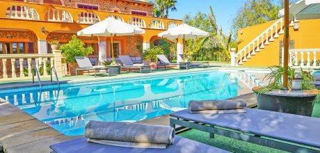 Mallorca Nordküste – Ferienhaus Selva 7320 für 14 – 16 Personen mit beheizbarem Pool, An- und Abreise flexibel auf Anfrage – Mindestmietzeit 1 Woche.
