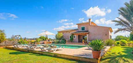 Mallorca Südostküste – Finca Campos 4897 mit privatem Pool für 8 Personen mieten, An- und Abreisetag Samstag, Nebensaison flexibel auf Anfrage – Mindestmietzeit 1 Woche.