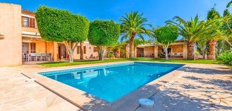 Mallorca Südostküste – Ferienhaus S'Alqueria Blanca 5558 für 10 Personen mit privatem Pool, Strand = 8,5 km. An- und Abreisetag Samstag, Nebensaison flexibel auf Anfrage – Mindestmietzeit 1 Woche.