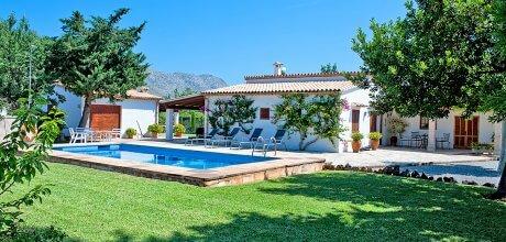 Mallorca Nordküste – Ferienhaus Pollensa 3477 für 6 Personen mit Pool in Lauflage zum Ort, Strand = 5 km. An- und Abreisetag Samstag.