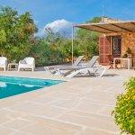 Ferienhaus Mallorca MA1100 Sonnenliegen am Pool
