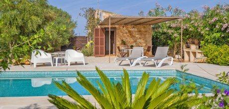 Mallorca Südostküste – Ferienhaus Santanyi 1100 für 2 Personen mit privatem Pool, Strand = 5,3 km. An- und Abreisetag flexibel – Mindestmietzeit 1 Woche.
