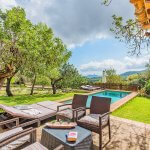Ferienhaus Mallorca MA2020 Terrasse mit Blick auf den Pool