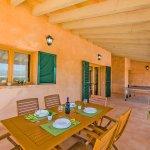 Ferienhaus Mallorca MA3034 überdachte Terrasse