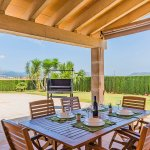 Ferienhaus Mallorca MA3034 Esstisch auf der Terrasse
