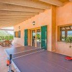 Ferienhaus Mallorca MA3034 Tischtennisplatte auf der Terrasse