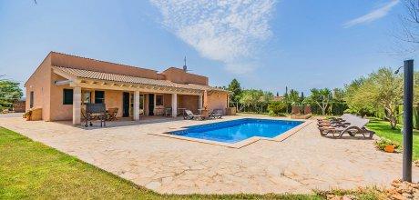 Mallorca Nordküste – Ferienhaus Sa Pobla 3034 für 6 Personen mit privatem Pool, Strand = 10km. Wechseltag Samstag, Nebensaison flexibel auf Anfrage – Mindestmietzeit 1 Woche.