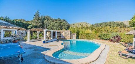 Mallorca Nordküste Ferienhaus Pollensa 3334 für 5 Personen mit privatem Pool und Internet, Strand = 4 km, An- und Abreise flexibel auf Anfrage – Mindestmietzeit 1 Woche.