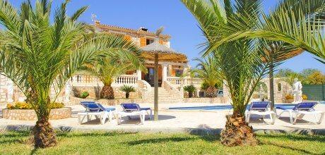 Mallorca Südostküste – Ferienhaus S'Horta 3890 für 6 Personen mit privatem Pool und Internet, Strand = 2,5 km. An- und Abreisetag Samstag.