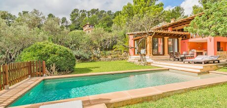 Mallorca Nordküste – Ferienhaus Pollensa 2020 für 4 Personen mit privatem Pool, Strand = 9 Km, Wechseltag Samstag, Nebensaison flexibel – Mindestmietzeit 1 Woche.