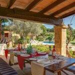 Finca Mallorca MA4313 überdachte Terrasse