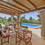Ferienhaus Mallorca MA3989 Terrasse mit Blick auf den Pool