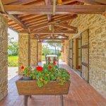 Ferienhaus Toskana TOH525 überdachte Terrasse