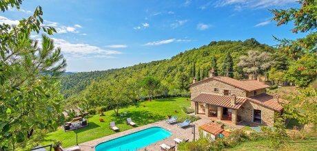 Ferienhaus Toskana Arezzo 525 mit Pool, Klimaanlage und Internet, kostenlose Stornierung bis 45 Tage vor Anreise für alle Neubuchungen, Wechseltag Samstag, Nebensaison flexibel auf Anfrage.