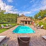 Ferienhaus Toskana TOH525 Pool mit Liegen