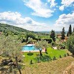 Ferienhaus Toskana TOH424 Blick auf den Pool