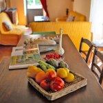 Ferienhaus Toskana TOH424 Obstteller auf dem Esstisch