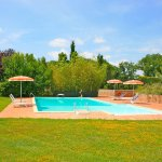 Ferienhaus Toskana TOH625 Garten mit Pool