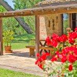 Ferienhaus Toskana TOH635 überdachte Terrasse