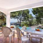 Villa Mallorca MA5549 Terrasse mit Gartenmöbel